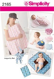 2165 Simplicity Pattern: Baby Accessories